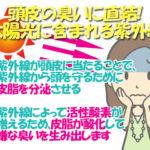 夏だけではない!紫外線が頭皮を臭くする原因はノネナール!