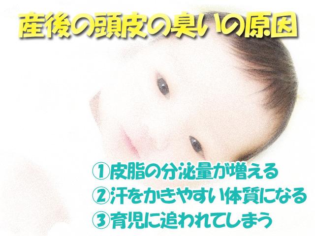 産後の頭皮の臭い3大原因と対策!一番の原因はホルモンバランスの乱れ_原因説明
