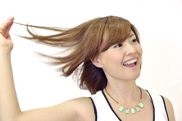 柔らかい髪の毛②