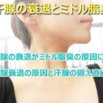 ミドル脂臭と汗腺の衰退は関係している?ミドル脂臭を抑えるために